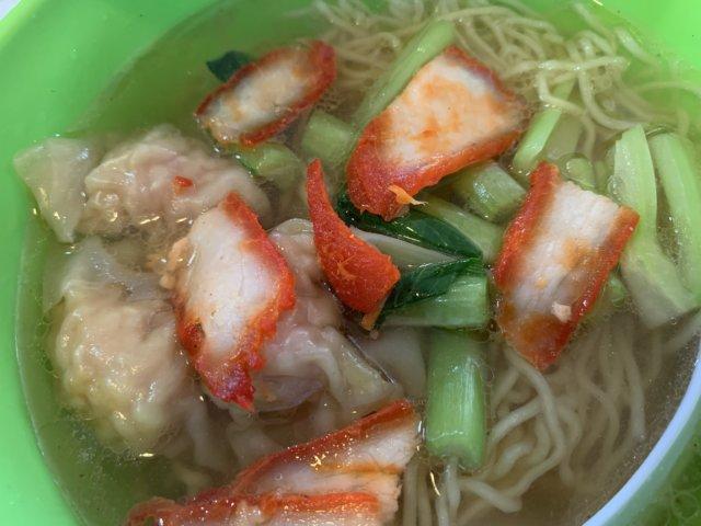リピートしたスープワンタン麺