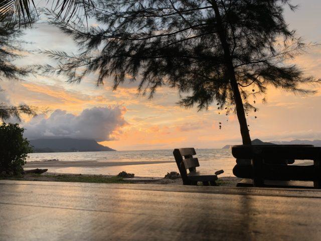 タンジェンルーの夕日
