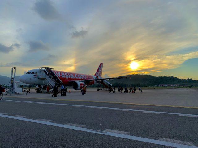 ランカウイ空港の搭乗口