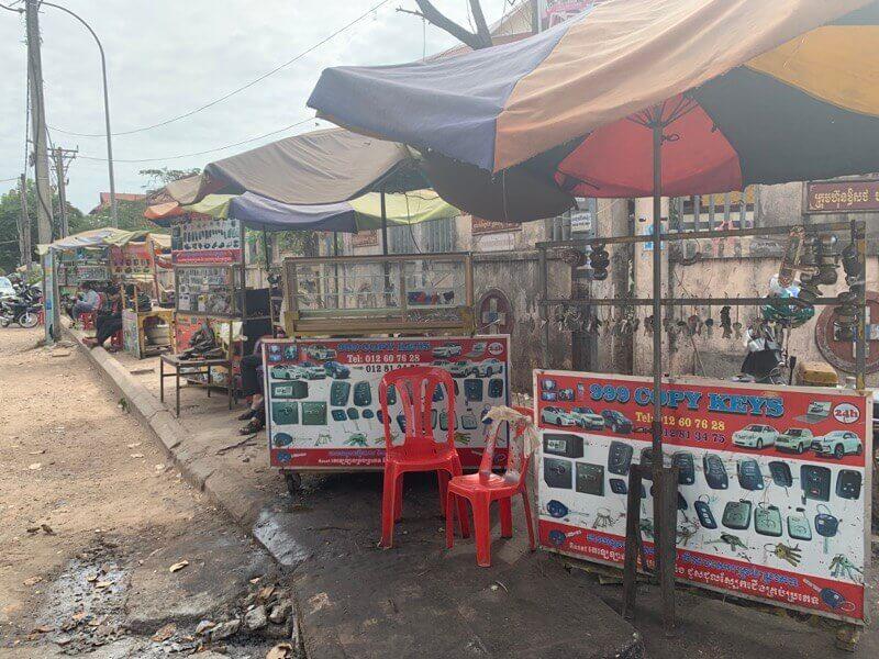 カンボジアの合鍵を作ってくれる場所