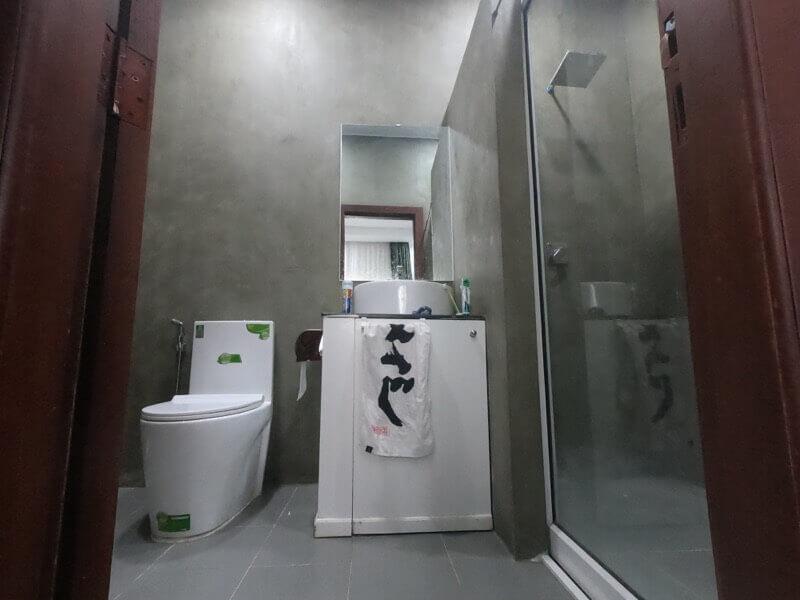 カンボジアの家のバスルーム