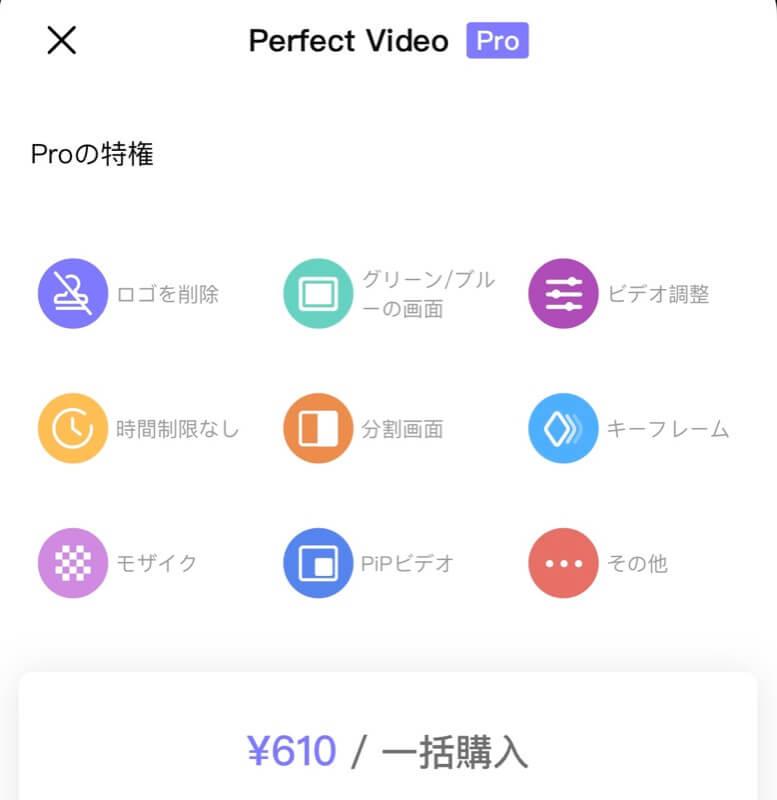 Perfect Videoに課金するメリット