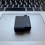 GoProのバッテリーを水没させた