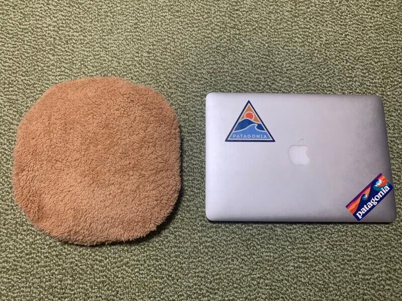 エコ湯たんぽの大きさ比較画像