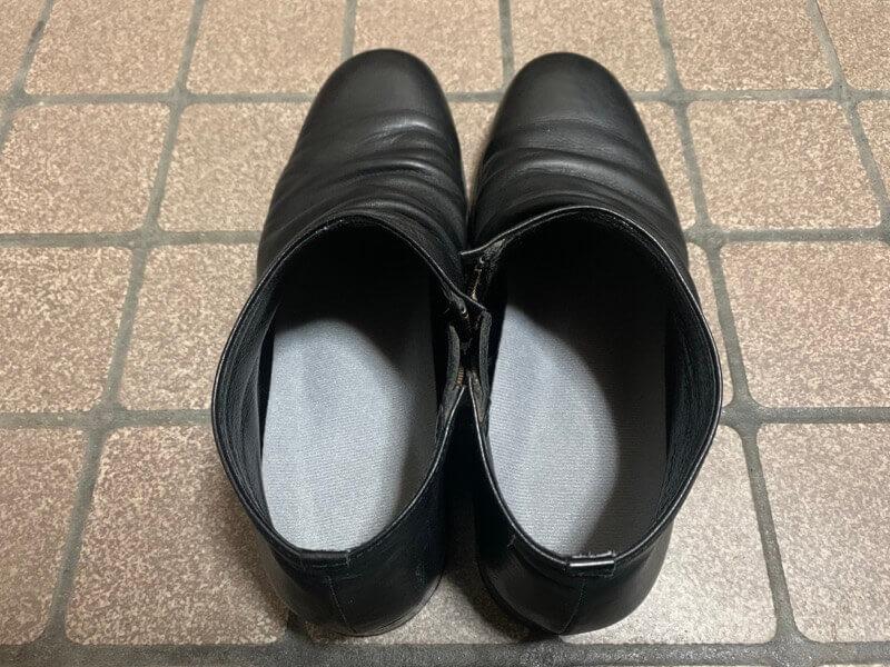 革靴に入れたO.M.C TOKYOのインソール