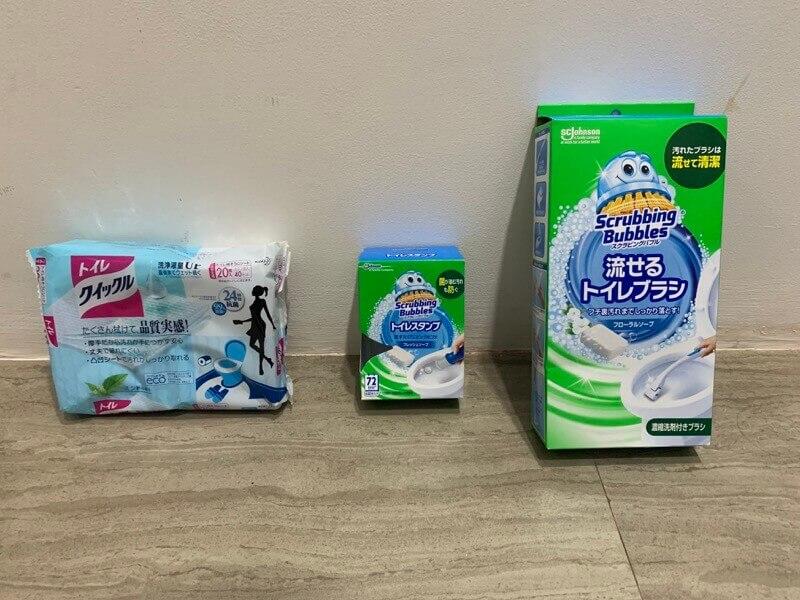 一掃したトイレ掃除用のアイテム