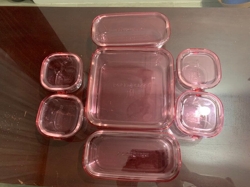 iwakiの耐熱ガラス容器を買った