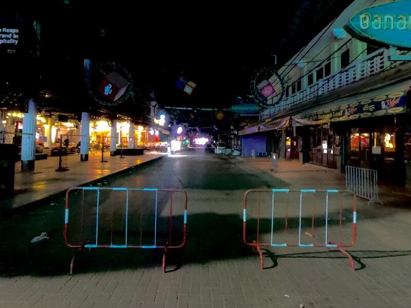 ロックダウン中のパブストリート