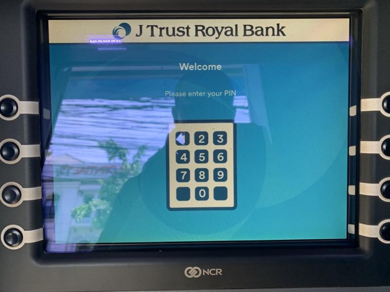 カンボジアのATMで現金を引き出す手順3