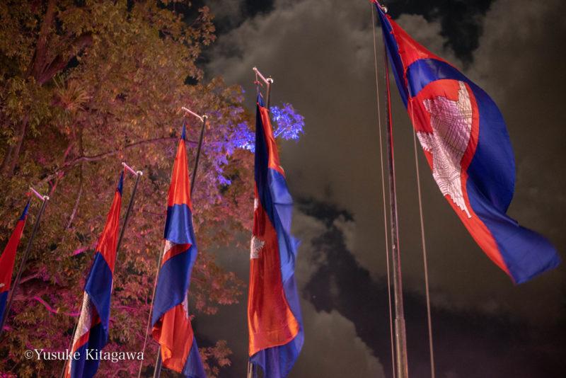 カンボジアの国旗です