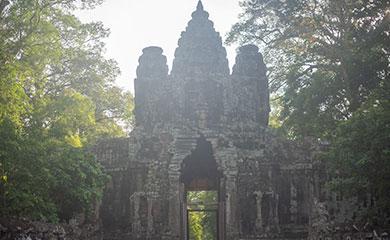カンボジアの観光地の様子です