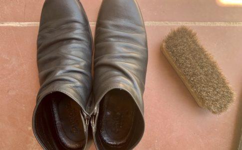 買って一年になる靴