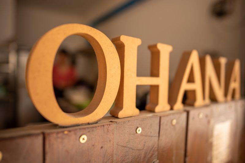 OHANAのサインボード