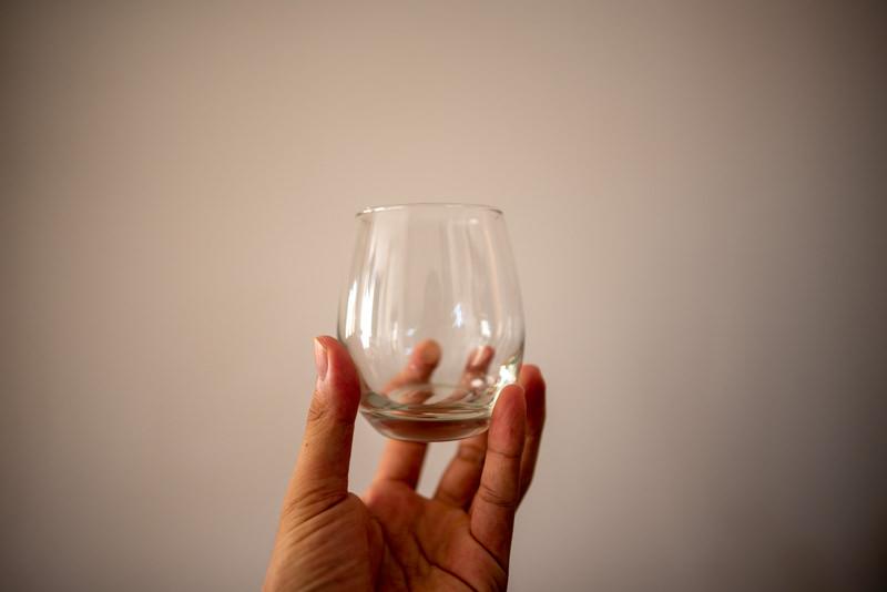 おしゃれなお冷やグラス