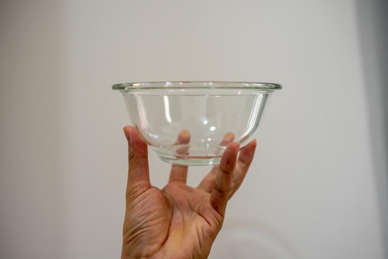 iwakiの耐熱ガラスボウル