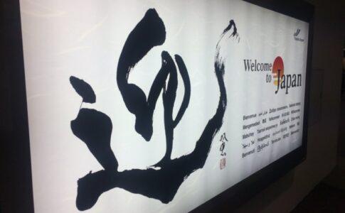 日本の空港到着ロビー