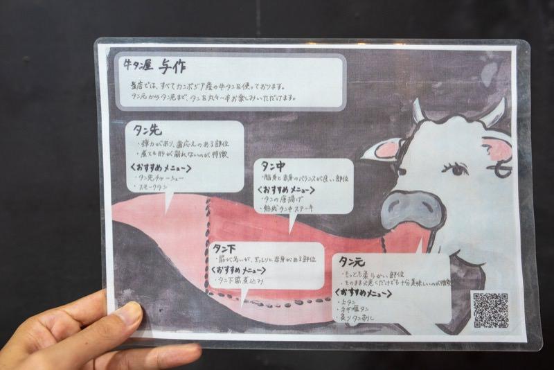 牛タンの部位の説明