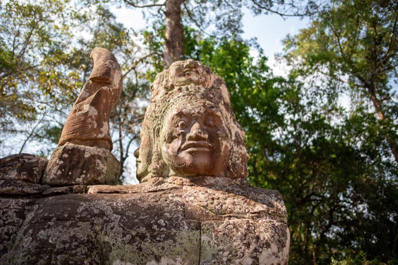 アンコール遺跡の彫刻