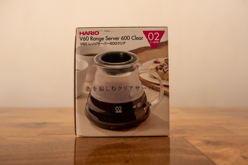 HARIOのV60レンジサーバーのパッケージ