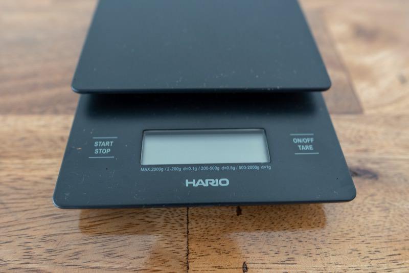 HARIO V60ドリップスケールのボタン