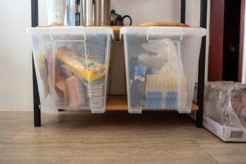 日用品をストック管理する収納ケース